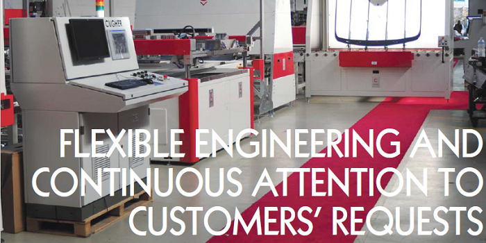 FLEXIBLE ENGINEERING AND CONTINUOUS ATTENTION TO CUSTOMERS' REQUESTS